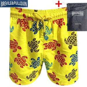 Vilebrequin Erkek Plaj Şort plaj pantolon marka Mayo erkek tahta Şort Yeni stil Hızlı kurutma baskı 127 ahtapot denizyıldızı Kaplumbağa