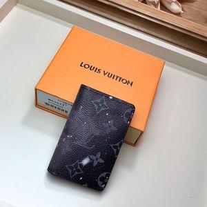 Melhor preto curto zipper mulheres carteira com caixa de marca de couro genuíno carteira de couro carteira mulheres carteira tamanho 11-8-1 cm M63873