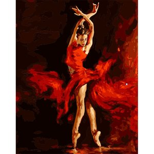 wholesale 100% Full 5D Diy Daimond Painting Ballet dancer 3D Diamond Painting Round Rhinestones Cross Stitch Rhinestones Decor Home