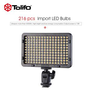 LED contínua Tolifo PT-216B 13Watt 216 Pcs Lâmpadas Dimmable Bi Cor 3200K-5600K LED ajuste de vídeo Painel de Luz para câmera e filmadora