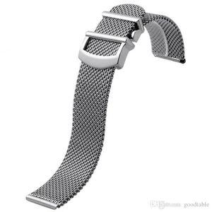 시계 메쉬 스트랩 for IWC Portofino 스테인레스 스틸 밀라노 시계 밴드 밴드 20 22MM