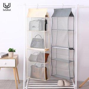 Sac de stockage de sac de tenture luluhut 4 couches Armoire sacs suspendus placard organisateur support sac fourre-tout stockage