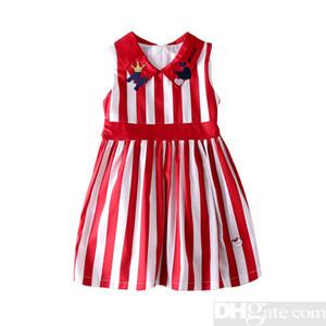 2019 Il progettista Summer Brand Girl Dress Bambino Bambini Abbigliamento per bambini Principessa Stampa Abiti Vestidos Roupa Menino Abiti in cotone-10