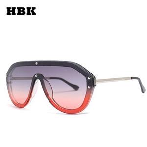 Hbk Women Cool Pilot Sunglasses 2019 New Fashion Brand Designer Ladies One Piece Sun Glasses Oversized Eyewear Men Women Uv400 dechS
