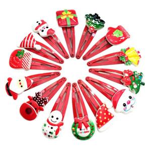 Детские рождественские головной убор маленькие заколки милые заколки для волос на Рождество Детские подарочные украшения случайный микс доставка XD22467