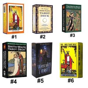 6 أنماط Tarots الساحرة رايدر سميث ويت Shadowscapes البرية التارو سطح السفينة مجلس بطاقات لعبة مع صندوق النسخة الانجليزية