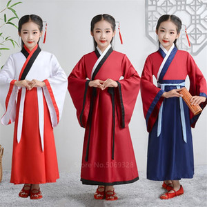 Ancient Chinese Costume Enfants adultes traditionnel Han Dynasty bébé garçon Hanfu robe chinoise Folk Dance Party Costume Tang Suit