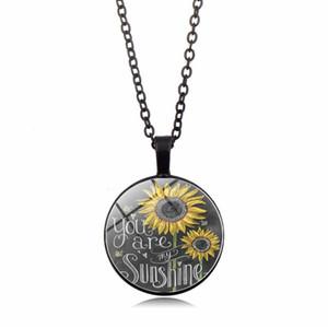 Neueste Frauen Halskette Sie sind meine Sonnenschein-Sonnenblume-Halskette Kurzschlussclavicle Sweeter Ketten-Halsketten-Charme-Schmucksache-Zusatz