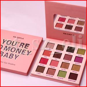 ka Cayla Colección Usted es $ 0 dinero para bebés de 16 colores de sombra de ojos mate y brillo sombra de ojos del maquillaje