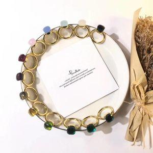 Top in ottone dell'anello di disegno materiale Parigi con la natura di giada e zircone decorare singolo anello in oro placcato per le donne e gioielli madre PS5521