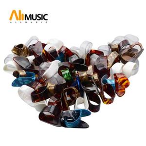 100Pcs Acoustic Guitar Large Shell Thumb Picks Index Picks Celluloid Thumbpicks Plectrums with Plastic