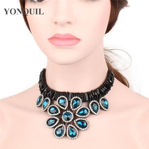 Женщины колье ожерелье ручной ретро Бурлеск ювелирные изделия дамы подарок дизайн ложные воротник колье ожерелье лента цепи SYBC42
