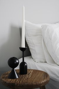 Black Wooden Candle Holder Quality Black Candle Seat