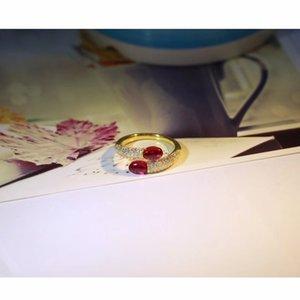Kırmızı Gems ile Moda-Fransa Paris Takı Şeker Yüzük, Moda Kadınlar Gelin Taşlı 925 Gümüş yüzükler Aralık takı