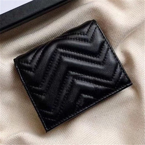 Casual Black Wallets Fashions Short Purses Embossing Leather Wallet with Box Women Wallets Lady Coin Purse Bag 11x7x3cm