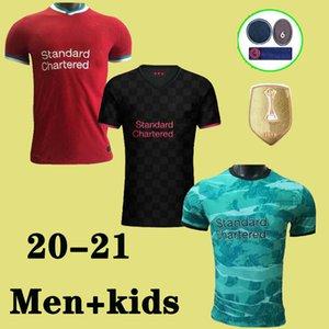 2020 KOP أبطال LVP جيرسي لكرة القدم محمد SALAH تعتيم فيرمينو سبع مرات 7 لكرة القدم قميص فيرجيل MANE الرجال كيت + أطفال