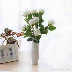 HotValentine's Day Simulation Flower Wedding Holding Single Simulation Rose Art Flower Home Decoration Photography Props Romantic Rose