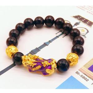 cambio de color Pixiu pulseras brazalete de oro de la arena