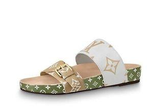 2019 2019 1A57JV Bom Dia plana mula Mujeres zapatillas zapatillas conductores de cuero real del deslizador de las sandalias Diapositivas zapatillas de deporte zapatos de cuero de Princetown