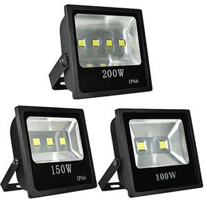 200W RGB Flutlicht im Freien Farbwechsel wasserdichte LED-Sicherheits-Licht RGB-Scheinwerfer mit Fernbedienung AC85-265V