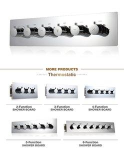 높은 품질 3 4 5 6 7 핸들 온도 조절 식 샤워 컨트롤러 다기능 샤워 시스템 욕실 액세서리 고 유량 수도꼭지 분기기