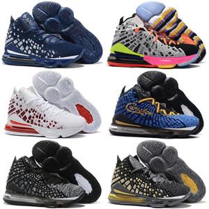 17 Siyah Beyaz Mens Tasarımcısı Spor Sneakers Eğitmenler 36-46 James Bred LeBron 17 Gelecek Lakers Patlıcan Erkek Basketbol ayakkabıları Eşitlik Oreo