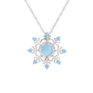 nouveau Euro-américain de gros flocons de neige Magic Box Collier 925 pendentif perle cage en argent sterling Mode Accessoires claviculaire