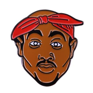 All eyez on me 2Pac Tupac sombrero pin California west coast 90s hip hop rapero broche accesorio de arte pop