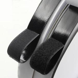 1 metro nero gancio e anello di fissaggio nastro magico adesivo in nylon adesivo loop dischi velcr adesivo biadesivo adesivo magico