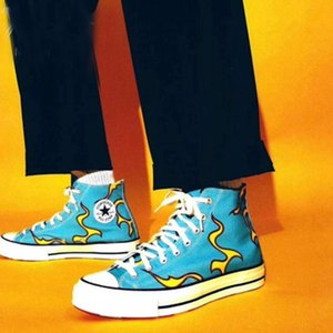 새로운 남자 여자 금연실, 골프 르 FLEUR 척 (70 개) 캔버스 신발 캐주얼 하이 삼베 블루 1970 년대 캠프 베르트 노가 엘 물어 뜯기 운동화 디자이너 트레이너 36-44을 여자