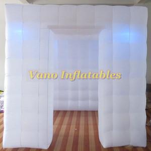 Inflable Photo Booth recinto portátil con los colores LED Cambio de Luces e interior de aire del ventilador para bodas Partes Promociones Publicidad