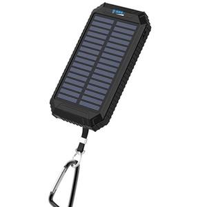 Casual portátil cargador de batería solar LED de luz universal de la energía solar de alta tasa de conversión 10000mAh USB. Banco