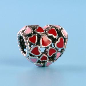 Romantiche perline fascino amore per Pandora gioielli in argento 925 con temperamento scatola originale braccialetto fai da te perline regalo di compleanno