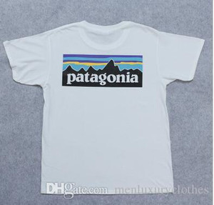 Marke Männer T-Shirts Baumwolle Skateboard Männer T-Shirts Teenager Patagonia Mountain Designer T-Shirt Kurzarm Sommer Tops