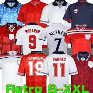 Inglaterra mundo retro taza Jersey 1982 1994 1998 2002 ESQUILADOR BECKHAM SOCCER JERSEY 1990 1989 camiseta de fútbol Gerrard Scholes Owen Heskey 1994