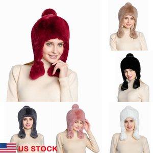 2020 marca cappello di Pelliccia Delle Donne Russo Ushanka trapper donne neve sci cappello caps earflap inverno raccoon Fur Bomber
