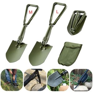 M L Folding Shovel Military Shovel Tactical Multifunction Folding Spade for Outdoor Camping Survival Emergency Tool T200306