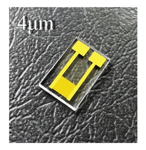4 micrometers Interdigitated Electrodes IDE Quartz Glass Gold Microelectrode MEMS Medical optical Chemical Sensor Biosensor Chip