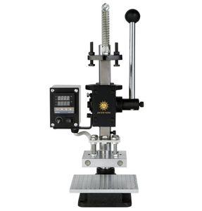 Sıcak Folyo Damgalama Makinesi Manuel Bronzlaştırıcı Makinesi deri ve Ahşap Marka kabartma için ısı basın machin