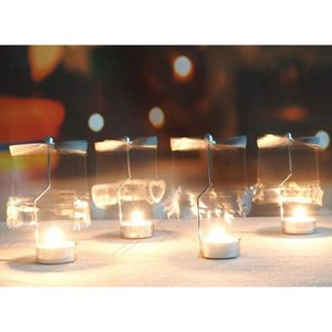 Candle Holders Rotary Candle Holder Rotating Windmill Metal Candle Holder For Wedding Dinner