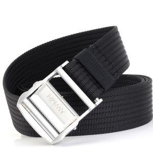 mens belts high quality canvas mens belt yellow black white belts ceinture 200 cm free shipping