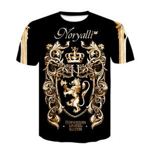 Factory-Outlet-Shirt neue Sommer-T-Shirt digitalen 3D-Druck-T-Shirt Männer / Frauen Vintage Luxus königlicher Blumendruck Goldene Blume Marke T-Shirt
