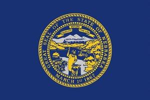 90X150CM США Небраска Государственный флаг Цифровая печать 100D Polyester Американский Государственные флаги с 2 никель Прокладки