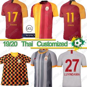 Thai 2019 Galatasaray Futebol FALCAO GOMIS Linnes Cigerci Belhanda FERNANDO Feghouli DONK Laranja preta feita sob encomenda Branco Football Shirtsne