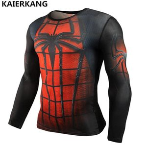 men Fashion T-shirt 2017 Long Sleeve Rash Guard Complete Graphic Compression T-shirt Multi-use Bodybuilding MMA Tops Shirts