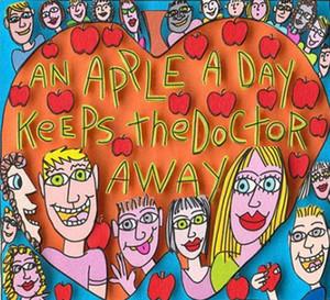제임스 리치는 - Apple로부터 하루에 캔버스 벽 예술 캔버스 그림 191223 회화 집을 장식 공예 / HD 인쇄 오일을 유지 의사를
