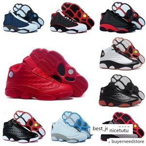 Classical 13 Bred Flint Grey Toe Black Infrared Men Womens Basketball Shoes, white black grey teal XIII Sneakers 13s