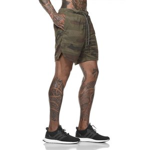 Men 2 In 1 Running Outdoor Shorts With Inner Layer Adjust Waist Fitness Gym Sports Short Phone Pockets Mens Two Layers Shorts T200414 #742