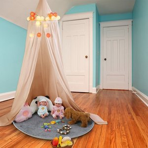 Cribs round dome bed children toy tent hanging mosquito curtain suitable for infants and children reading play sleep room decoration
