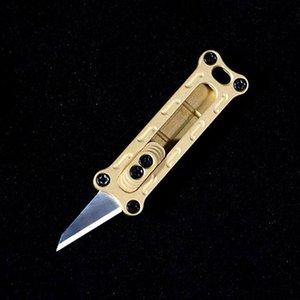 EDC Mini En Laiton Massif N ° 11 Lame Portable Utilitaire Couteau Coupe-papier Porte-clés Camping En Plein Air Outil De Survie